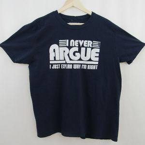 Urban Pipeline men's funny blue T-Shirt Size XL